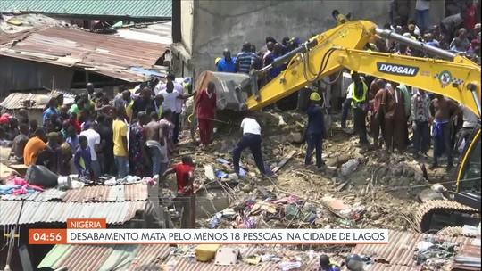 Desabamento mata pelo menos 18 pessoas na cidade de Lagos, na Nigéria