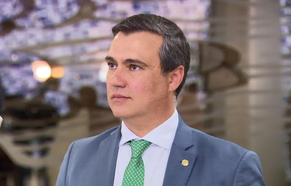 Luiz Lauro Filho tomou posse na Câmara dos Deputados nesta terça-feira — Foto: Reprodução/EPTV