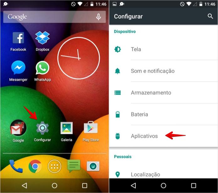 Abra as configurações de aplicativos (Foto: Reprodução/Helito Bijora)