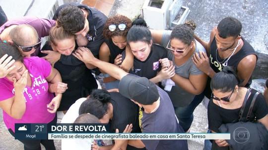 Família se despede de cinegrafista baleado em Santa Teresa