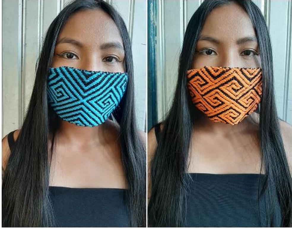 Máscaras são vendidas a R$50 cada — Foto:  Maria do Socorro Hunikuin/Arquivo pessoal