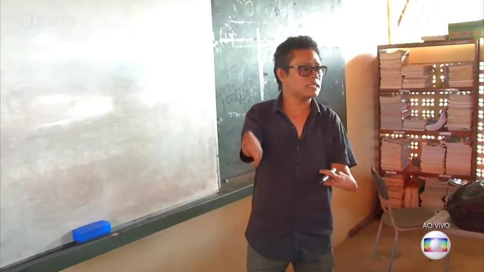 Professor Erlison foi alvo de bullying em sala de aula — Foto: TV Globo