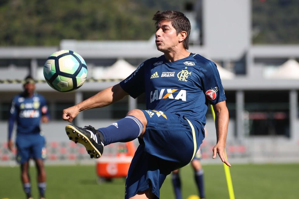 Conca durante treino do Flamengo (Foto: Gilvan de Souza/Flamengo)