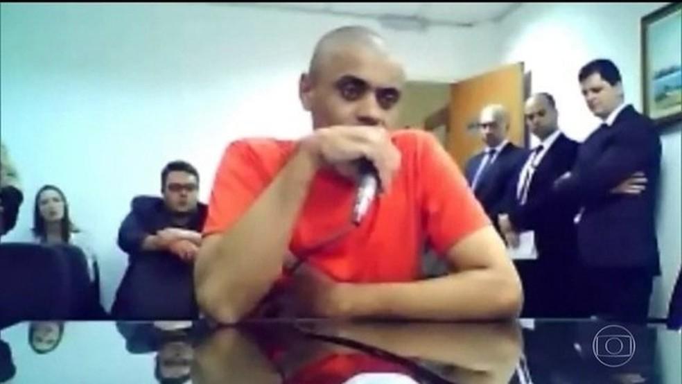 Adélio Bispo de Oliveira, que, segundo a PM de Minas Gerais, disse ter sido o autor da facada em Bolsonaro — Foto: Reprodução/JN