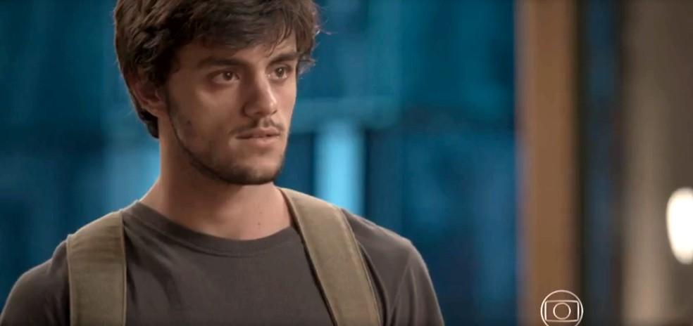 Jonatas consegue contar toda a verdade para a amada — Foto: TV Globo