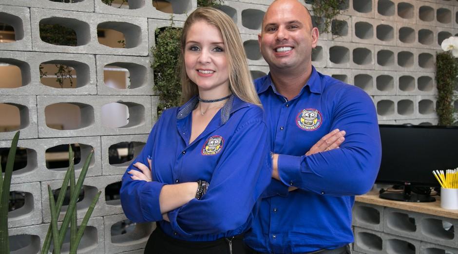 Agnes Cristina e Diogo Petri, da CatMyPet (Foto: Divulgação)