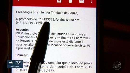 Estudante de Ribeirão Preto,SP, alega que perdeu prova do Enem por erro em cartão do Inep