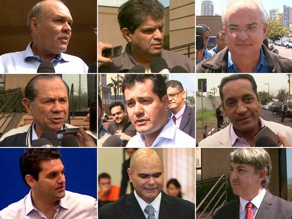 Os nove ex-vereadores de Ribeirão Preto condenados pela Justiça — Foto: Arte/EPTV