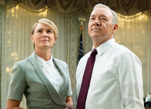 A atriz Robin Wright e o ator Kevin Spacey em cena de House of Cards (Foto: Divulgação)