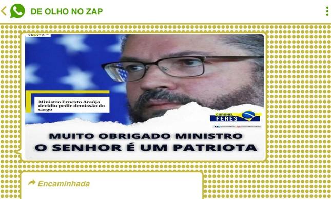 Demissão de Ernesto Araújo foi recebida com perplexidade em grupos bolsonaristas, mas divulgação de carta de demissão ampliou a narrativa de 'mártir'