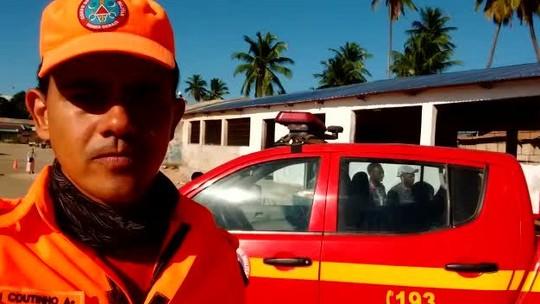 Bombeiros mineiros atendem famílias em acampamento da ONU em Moçambique