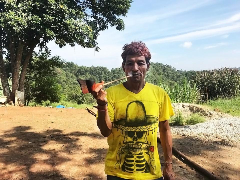 Líder espiritual da Aldeia Itakupe, Pedro Macena (Foto: Naiara Albuquerque)