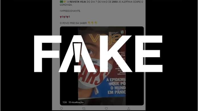 Indomable O cualquiera suspensión  É #FAKE que edição da revista 'Veja' de 2003 já falasse da Covid-19 |  CoronaVírus | G1