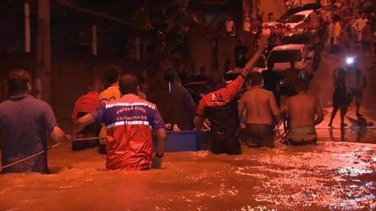 Temporal deixa um morto e mais de 400 desabrigados no Espírito Santo