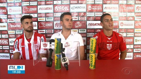 Velocista, camisa 10: reforços do CRB, Felipe Ferreira e Guilherme Costa falam sobre características