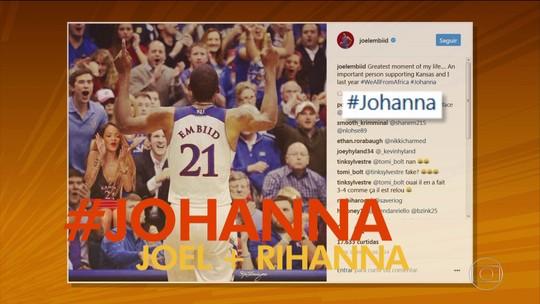 Popular por brincadeiras com Rihanna, Joel Embiid faz 26 pontos contra os Celtics pela NBA