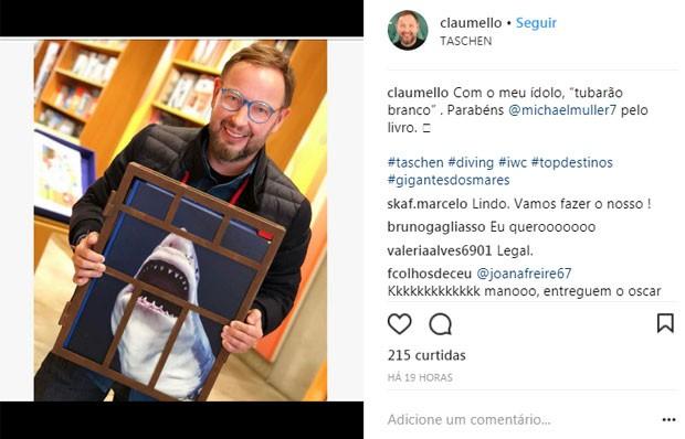 Claudio Mello em livraria  (Foto: Reprodução)