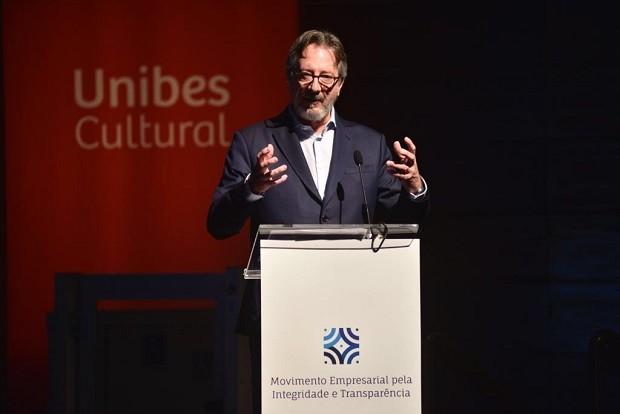 O diretor presidente do Instituto Ethos, Caio Magri, na cerimônia de lançamento do Movimento Empresarial pela Integridade e Transparência (Foto: Ivan Almeida)