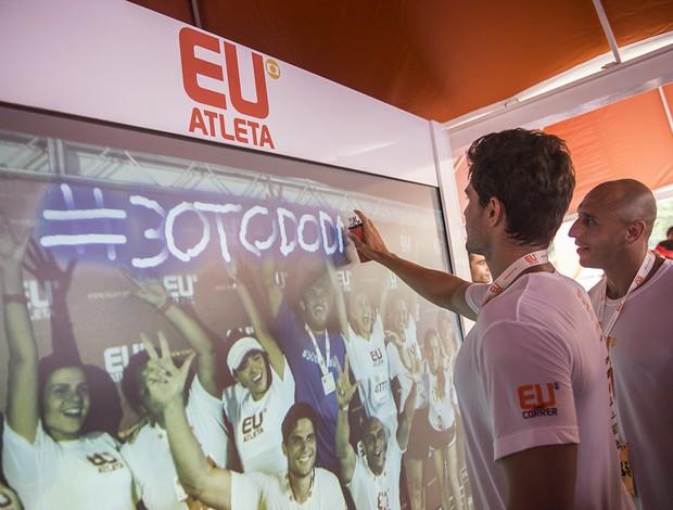 Grafite virtual Corrida Eu Atleta 10k Rio (Foto: André Hawk )