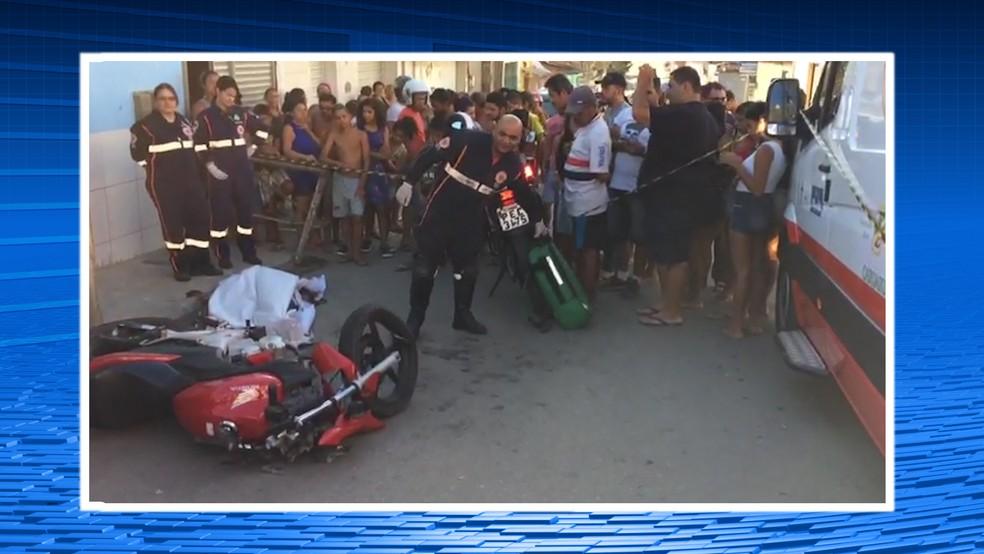 Acidente foi no bairro São João da Escócia (Foto: TV Asa Branca/Reprodução)