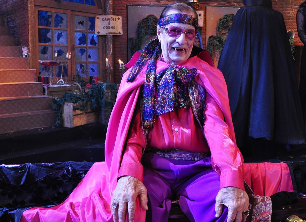 Orlando Drummond como o personagem Vamperu (Foto:  TV Globo/Estevam Avellar)