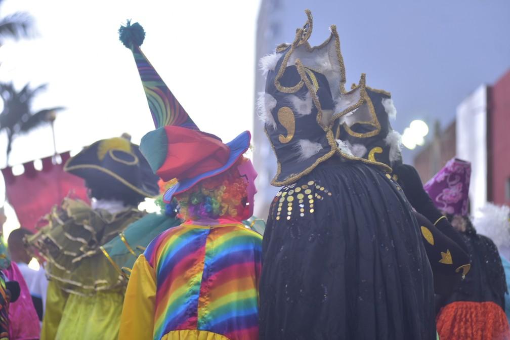 Mascarados marcaram presença no Pré-carnaval de Salvador 'Fuzuê' — Foto: Enaldo Pinto/Ag. Haack