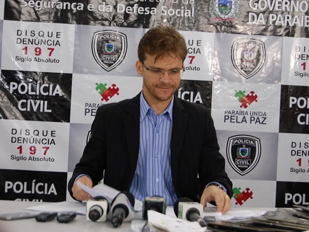 Delegado Iasley Almeida que estava em Campina Grande assume delegacia seccional de Queimadas, no Agreste da PB. — Foto: Diogo Almeida/G1/Arquivo