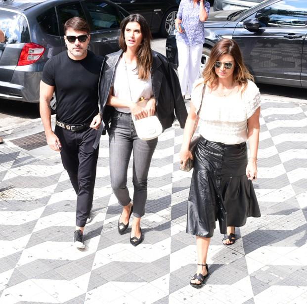 Danilo Faro, Isabella Fiorentino e Mariana Kupfer (Foto: Leo Franco/AgNews)