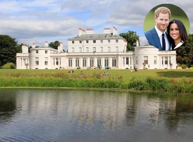 Chalé de Frogmore será a nova casa de Príncipe Harry e Meghan Markle (Foto: Wikimedia Commons/ Reprodução)