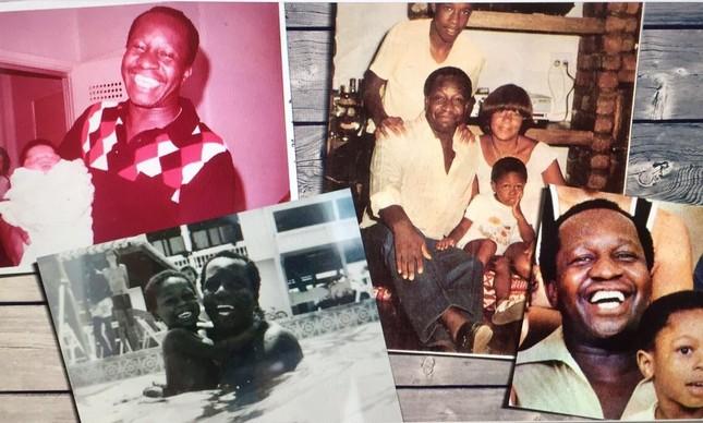 Destaque de algumas fotos de Mussum ao lado de seus filhos e sua família