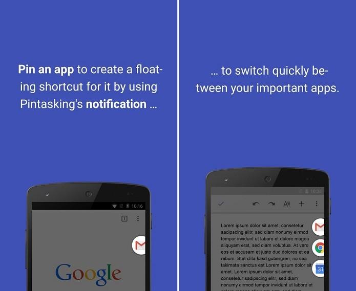 Pintasking cria atalhos de apps favoritos (Foto: Divulgação) (Foto: Pintasking cria atalhos de apps favoritos (Foto: Divulgação))