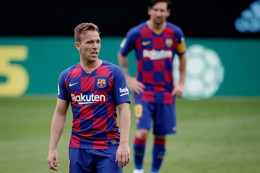 Arthur deve deixar o Barcelona e seguir para a Juventus — Foto: Getty Images