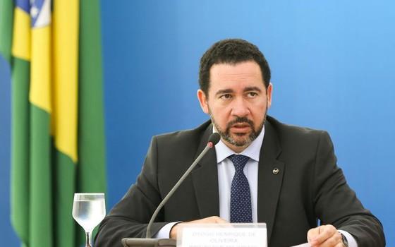 O ministro interino do Planejamento, Dyogo Oliveira, durante entrevista coletiva no Palácio do Planalto  (Foto: Marcelo Camargo/Agência Brasil)