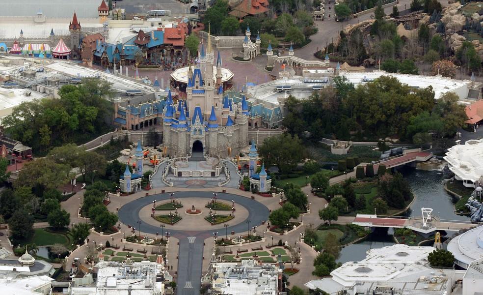 Vista área do Magic Kingdom em 2020 — Foto: Gregg Newton/Reuters