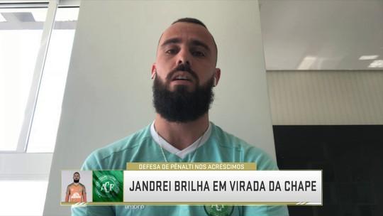 """Herói em vitória da Chapecoense, Jandrei fala sobre boa atuação: """"Momento espetacular"""""""