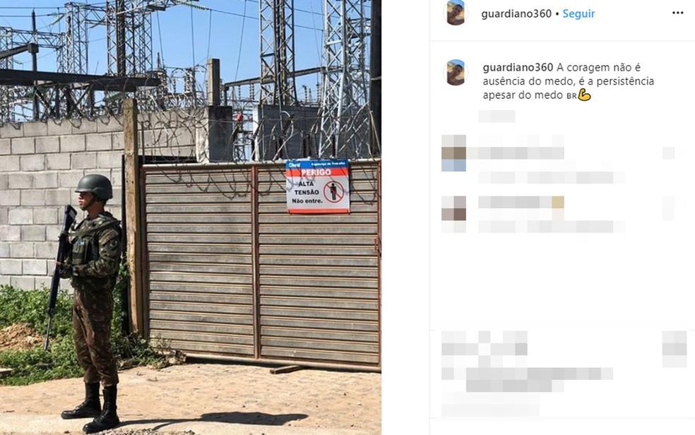 Soldado do Exército, Fernando Guardiano, foi encontrado morto em lagoa após ser abordado por homens armados no bairro do Cabula, em Salvador — Foto: Reprodução/Redes Sociais