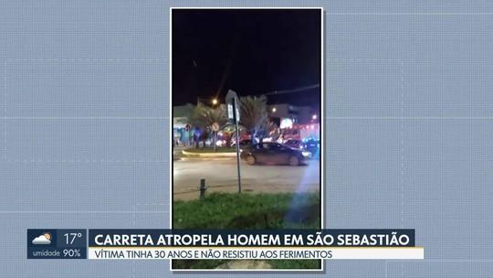 Homem morre atropelado em São Sebastião nesta quarta (25) à noite