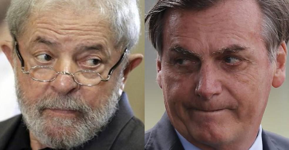 Lula e Bolsonaro — Foto: Agência O Globo