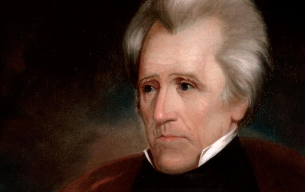 O presidente Andrew Jackson – que assinou a Lei de Remoção Indígena, uma ato de limpeza étnica – é lembrado hoje mais por sua crueldade do que pela invejável realização de ser o único presidente a pagar integralmente a dívida nacional. — Foto: Casa Branca