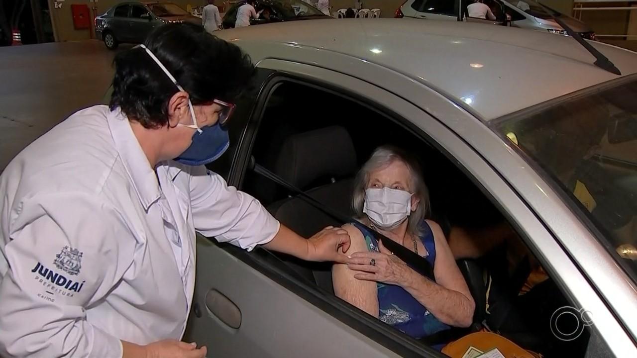 Jundiaí está sem vagas para idosos entre 85 e 89 anos se vacinarem contra a Covid-19