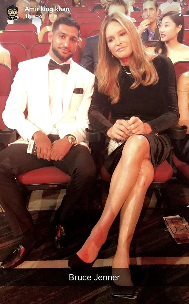 Amir Khan e Caitlyn Jenner (Foto: Instagram)