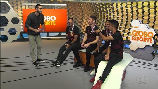 """Bicampeão goiano no Atlético-GO, Bambu sonha alto na Série B: """"Nosso objetivo é o acesso"""""""