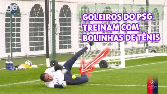 Goleiros do PSG treinam com bolinhas de tênis; assista