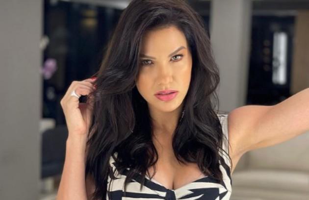 """A modelo Andressa Suita, ex-mulher do cantor Gusttavo Lima, surge em quinto. Nas redes, ela já negou e disse que não deixaria seus dois filhos para participar do """"BBB"""" (Foto: Reprodução)"""