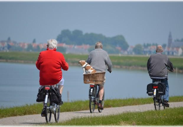 idoso ; bicicleta ; atividade física ; saúde ; aposentadoria ; exercícios ;  (Foto: Pexels)