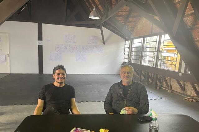 Leynar Gómez e Heitor Dhalia (Foto: Arquivo pessoal)