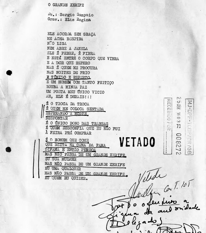 Documento do Arquivo Nacional sugere ligação de Elis Regina com Sérgio Sampaio   Blog do Mauro Ferreira