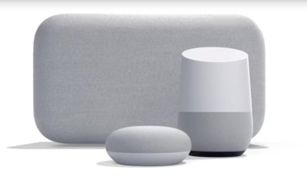 Aparelhos de assistência do Google controlados por voz — Foto: Reprodução/YouTube