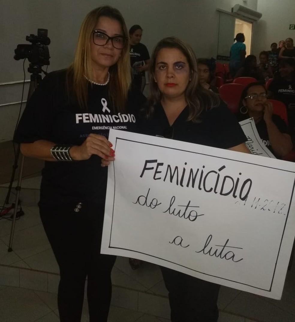 SandraRaquel ajuda outras mulheres, vítimas de agressão. — Foto: Sandra Raquel/Arquivo Pessoal