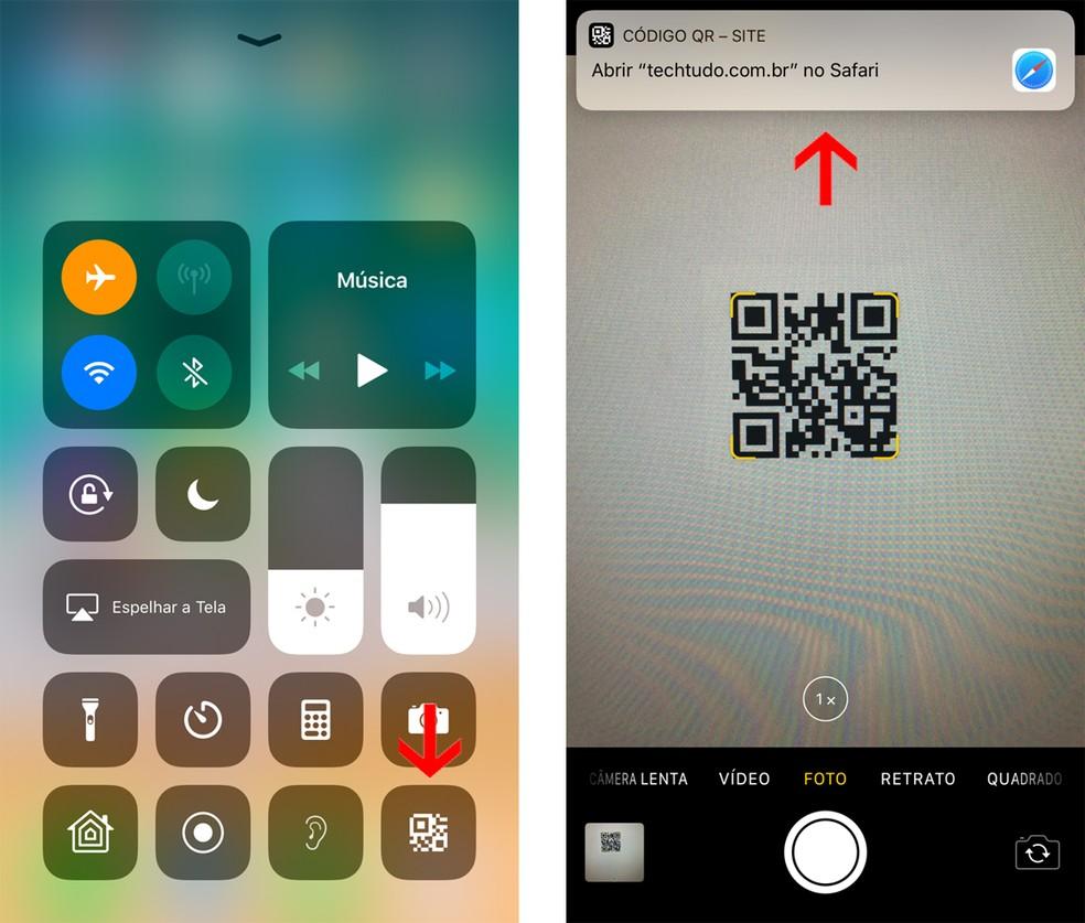 iOS 12: atalho permite scannear QR Code com mais facilidade — Foto: Reprodução/Bruno De Blasi